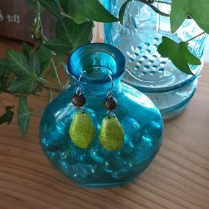 Lime Green Bead Earrings